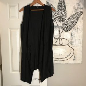 The Limited tunic-length Black Vest
